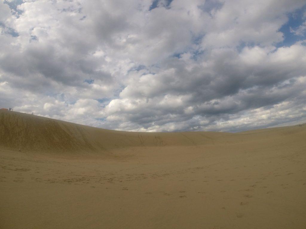 雲が多めで、一日涼しく過ごせた鳥取砂丘