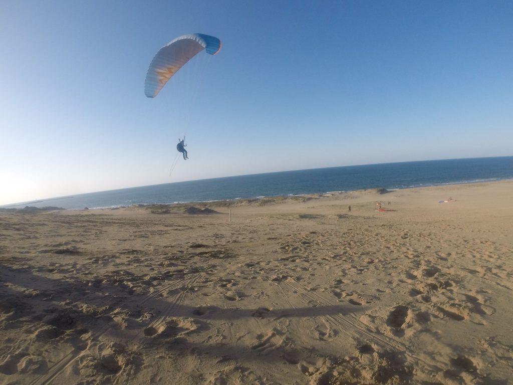 ぐ~んと距離をのばして、海岸近くまで飛んだり