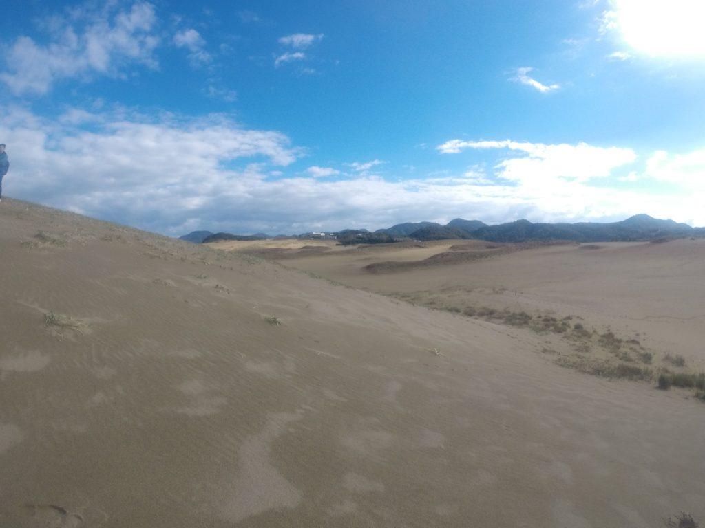 晴れて美しさが戻ってきた鳥取砂丘