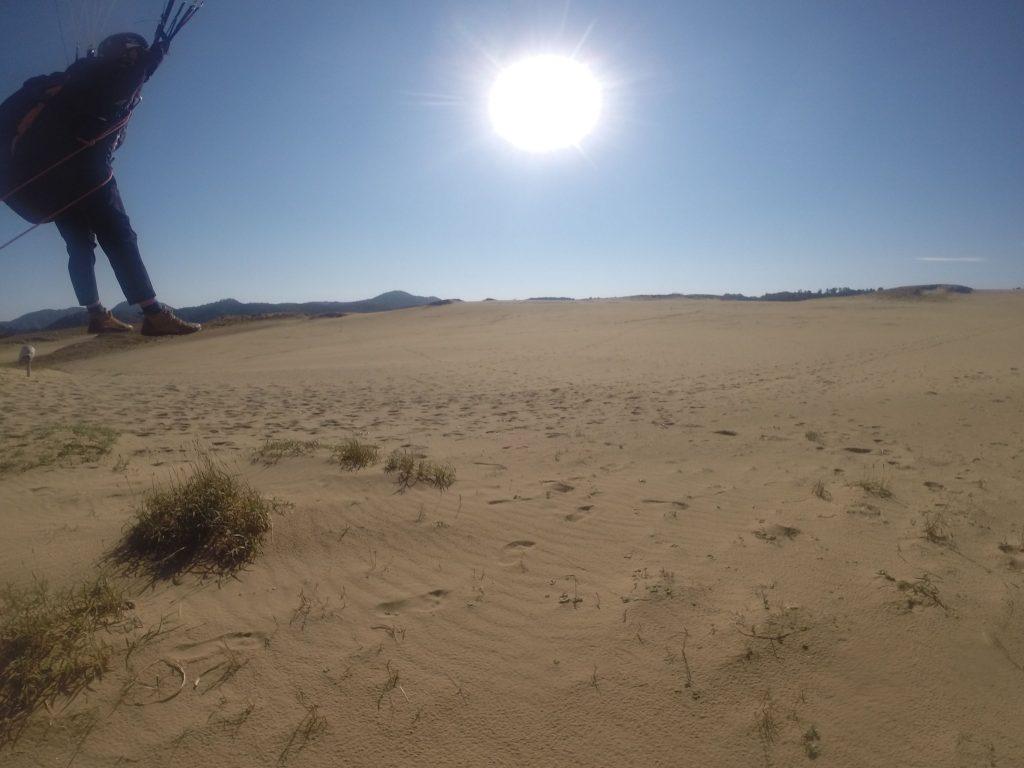 サンサン太陽に見守られながら、初パラグライダー大成功