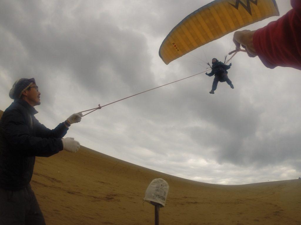 初パラグライダー体験は、雨の中で愉快に遊んだ思い出になりました^^