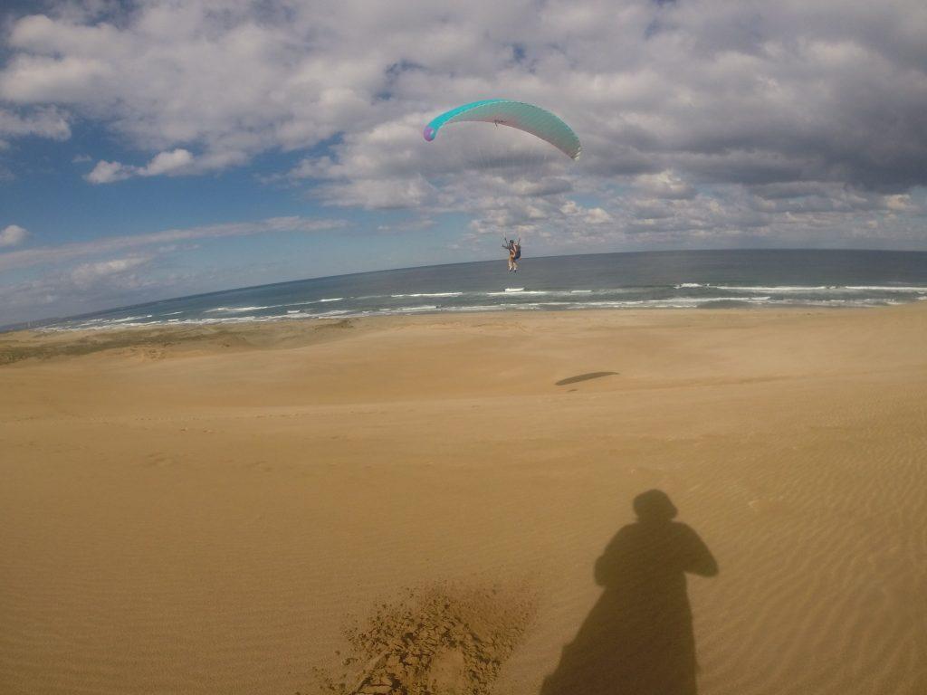 砂丘の上を軽快に舞うことができて、とても喜んでらっしゃいました