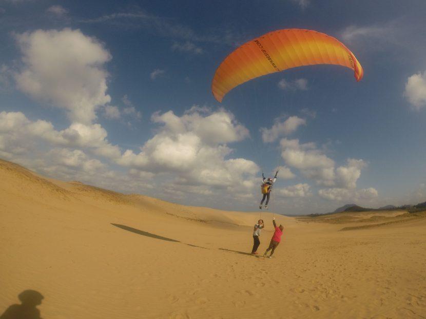 風は強めだったけど、安定していた鳥取砂丘