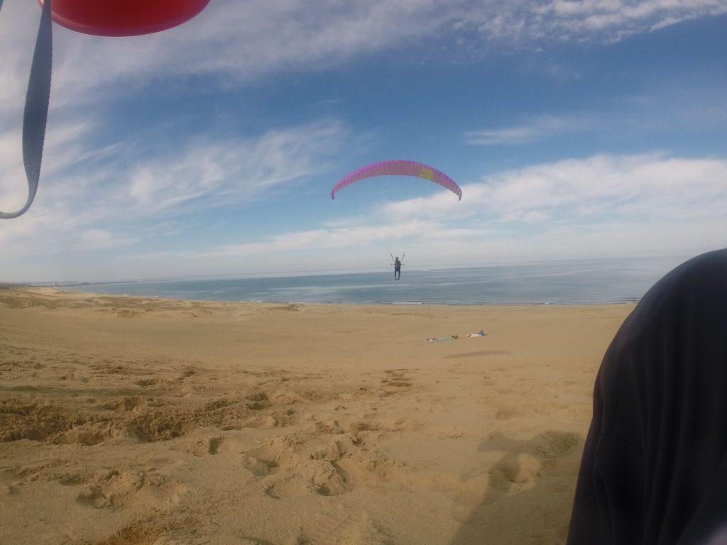 最後のフライトは、浜辺のほうまでびっくりするくらい飛べましたね!