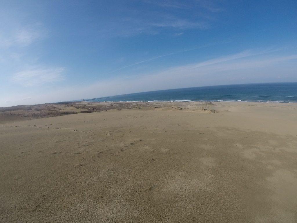 久しぶりに気持ちのいい晴れ方をした鳥取砂丘