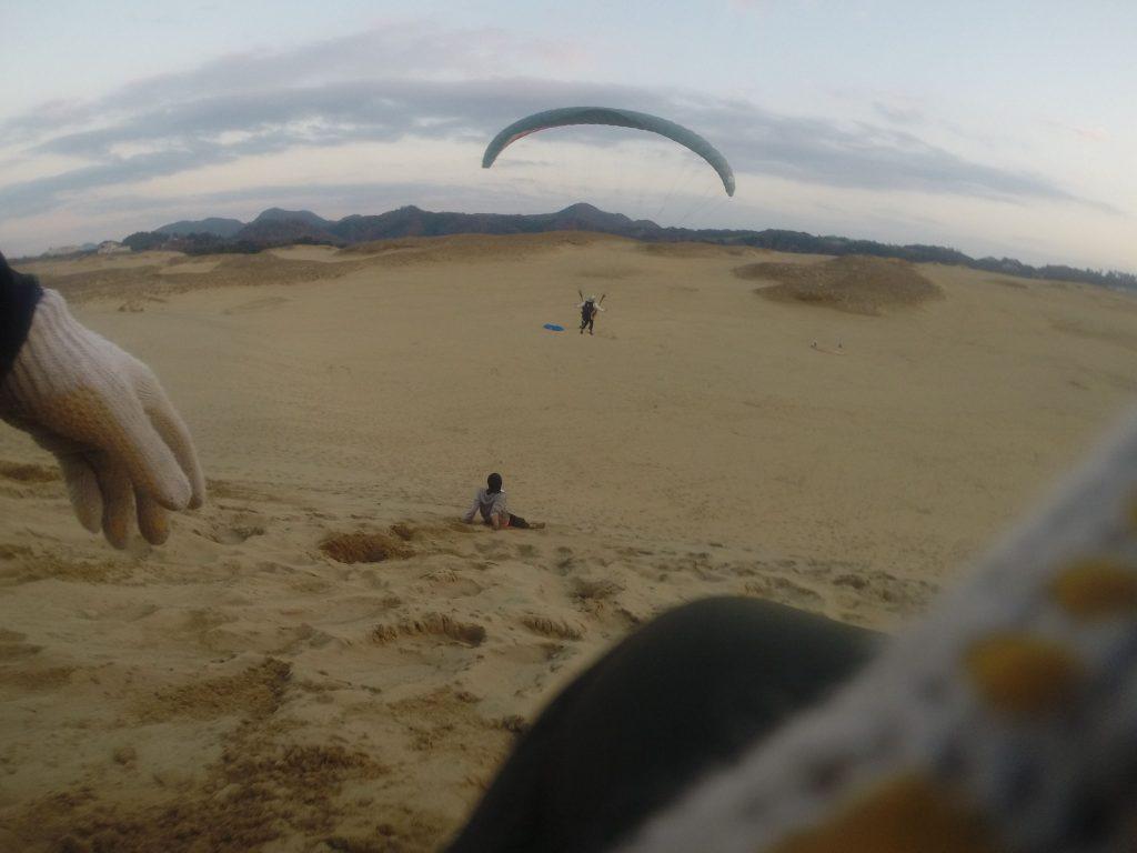 よわ~い風ながらも、しっかり滑空することができました