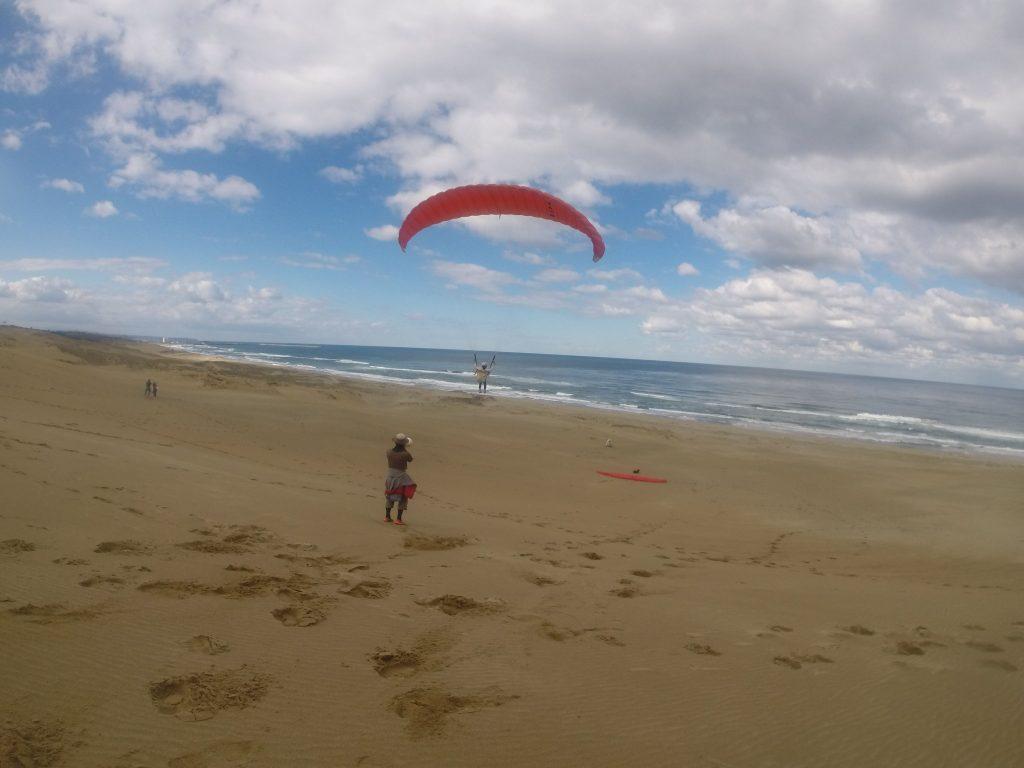 二本目以降は、風が変わったので海に向かって