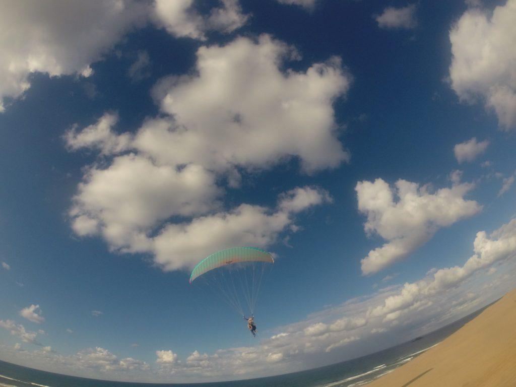 空に溶け込むかと思うくらい、気持ちよく飛べましたね!