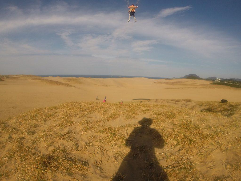 鳥取砂丘を見下ろす形になって、皆さん興奮が止まらないようでしたね