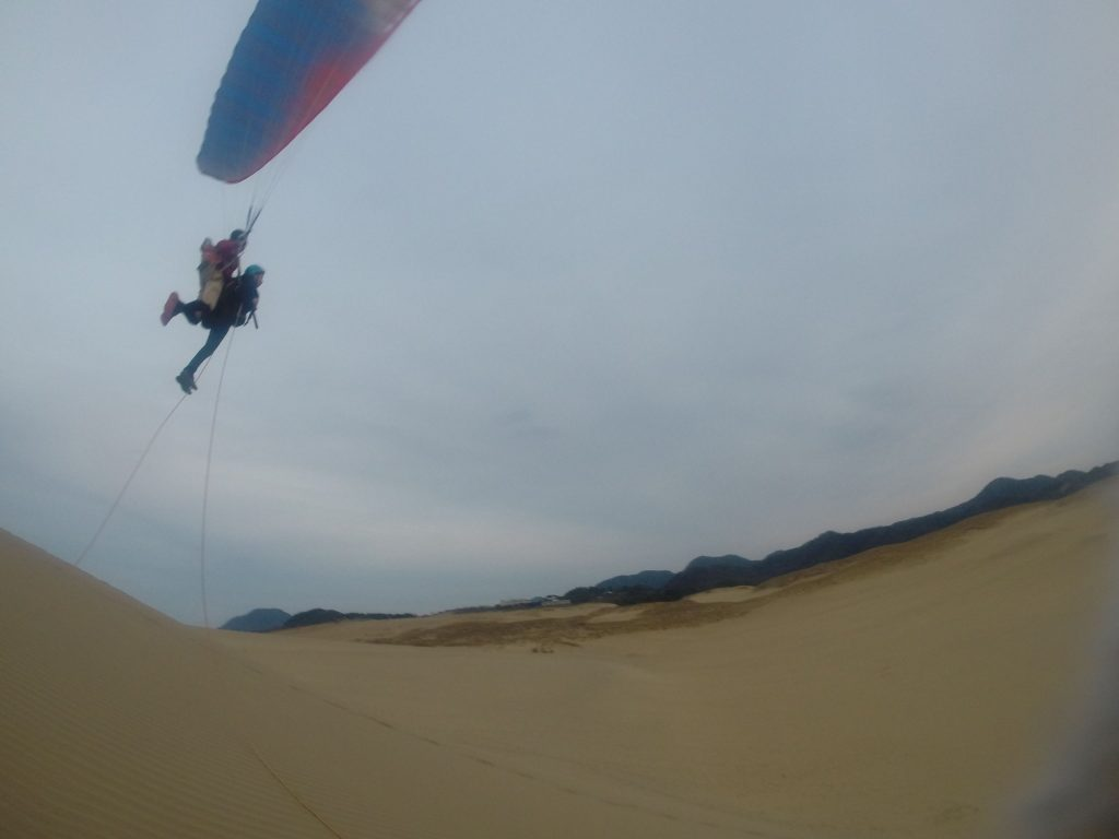 そして締めのフライトは、タンデムで高く飛んでフィニッシュ!