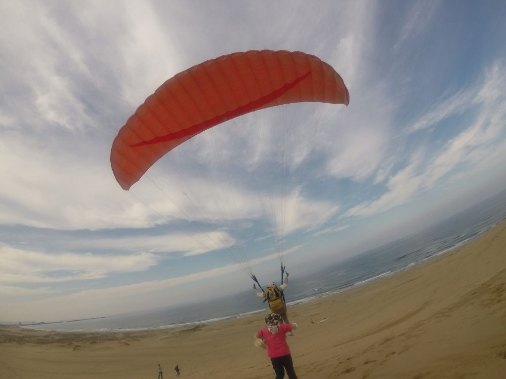 でっかい空と海と砂の世界に向かって、レッツゴー!