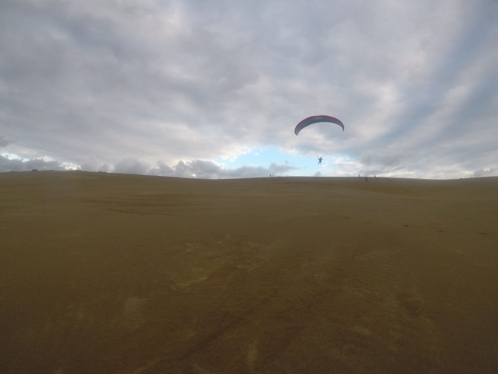 スタートポイントから、どこまで飛んでいけるか挑戦だ!