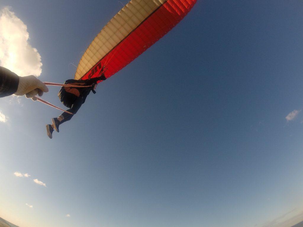 大空間に飛ぶこむようにして、レッツフライト