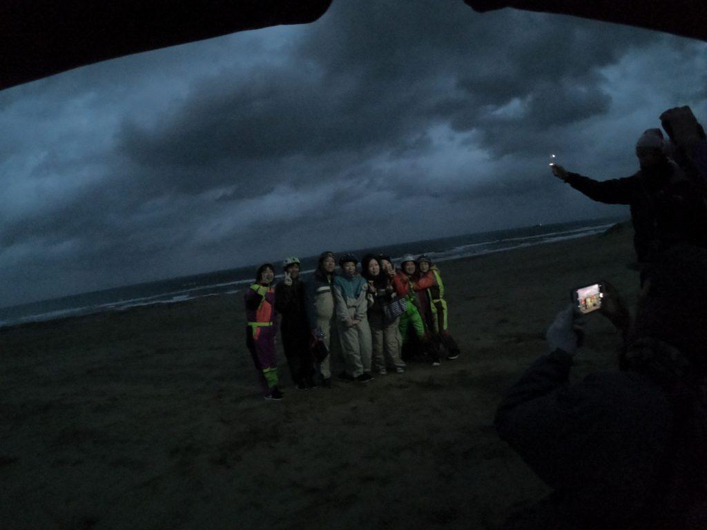 暗くなるまで砂丘を満喫した夕方の部