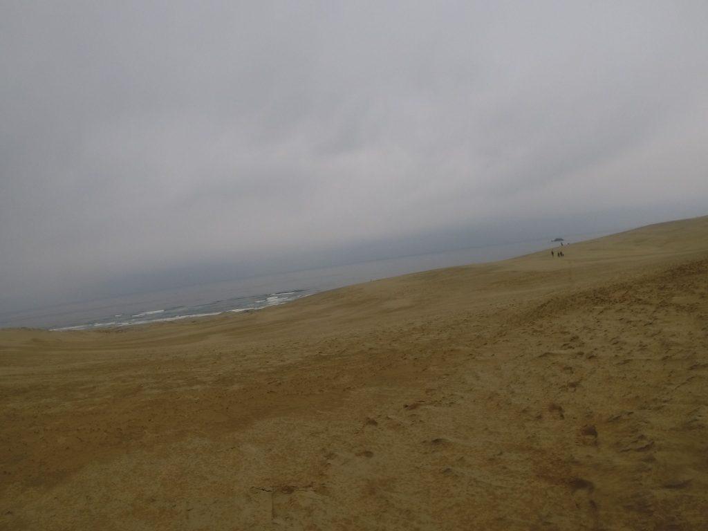 いいタイミングで雨が上がった鳥取砂丘