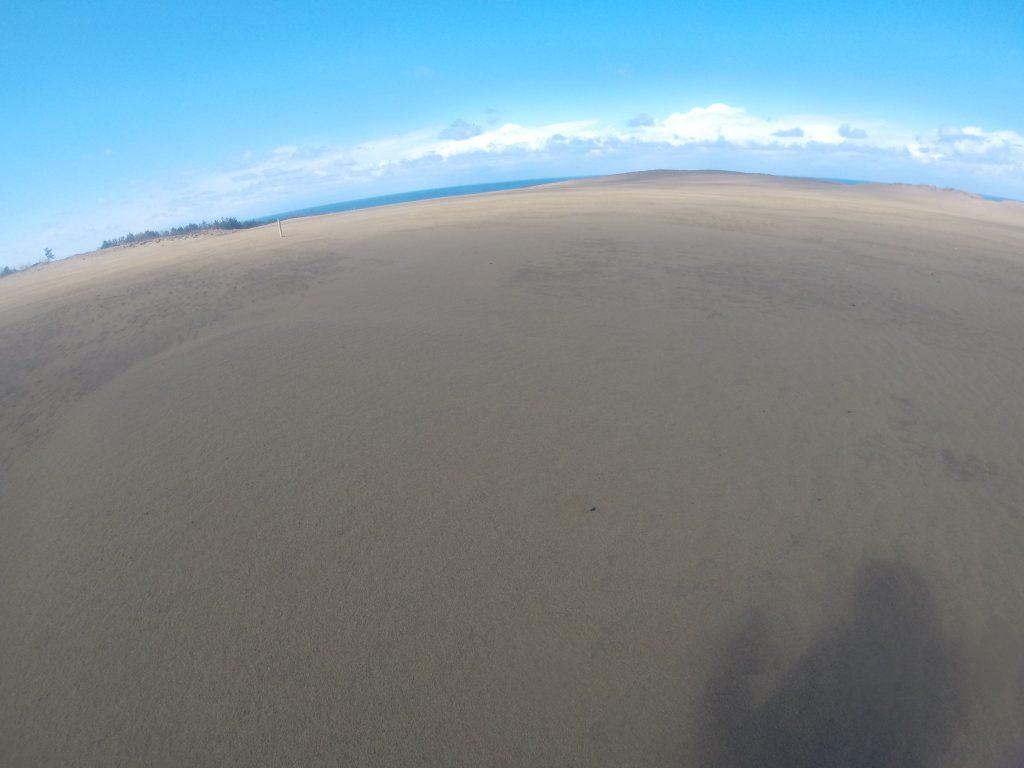 午後になって好天が広がった鳥取砂丘