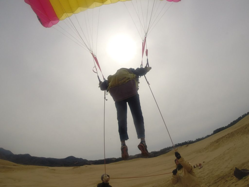 そっと空中に浮かび上がって、ふわふわ感を楽しむ