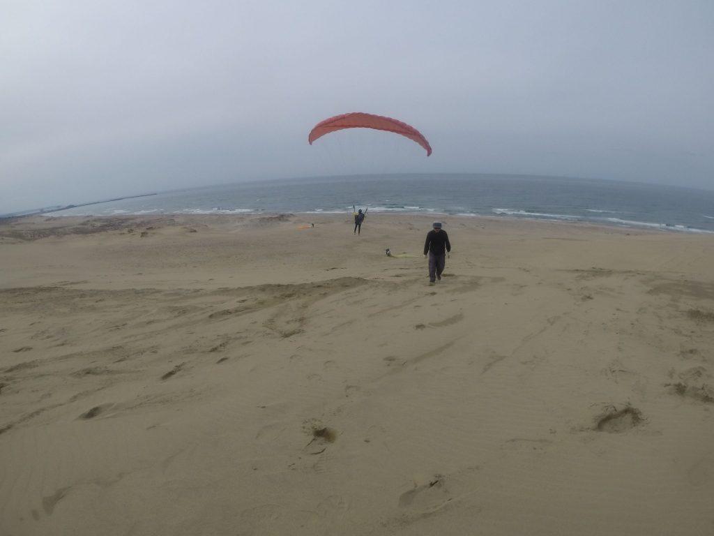 風向きが変わったところで、海に向かっても飛べました
