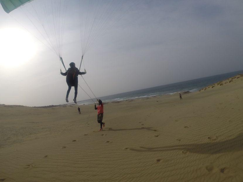 おおいに空で遊べた3月の鳥取砂丘