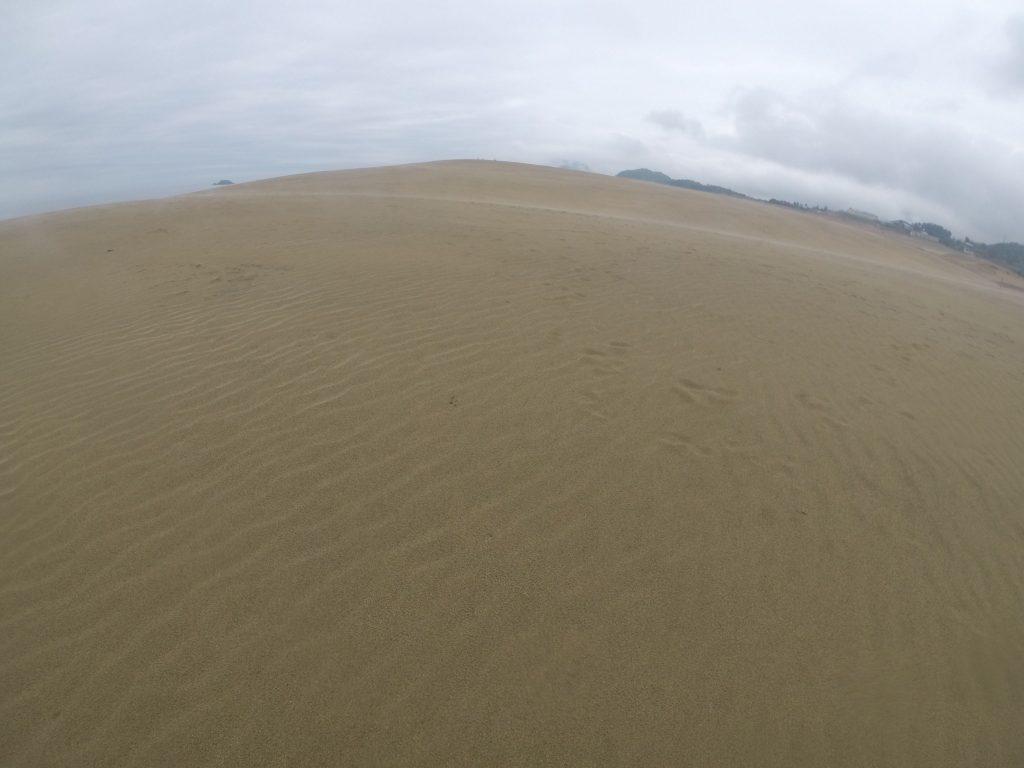 幻想的な風景が楽しめた朝の鳥取砂丘