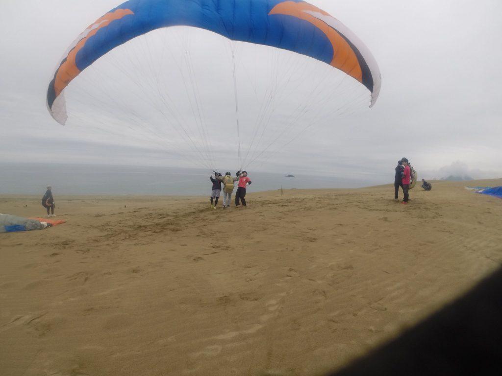 すぐに海風になって、さっそく駆け出して大空へ
