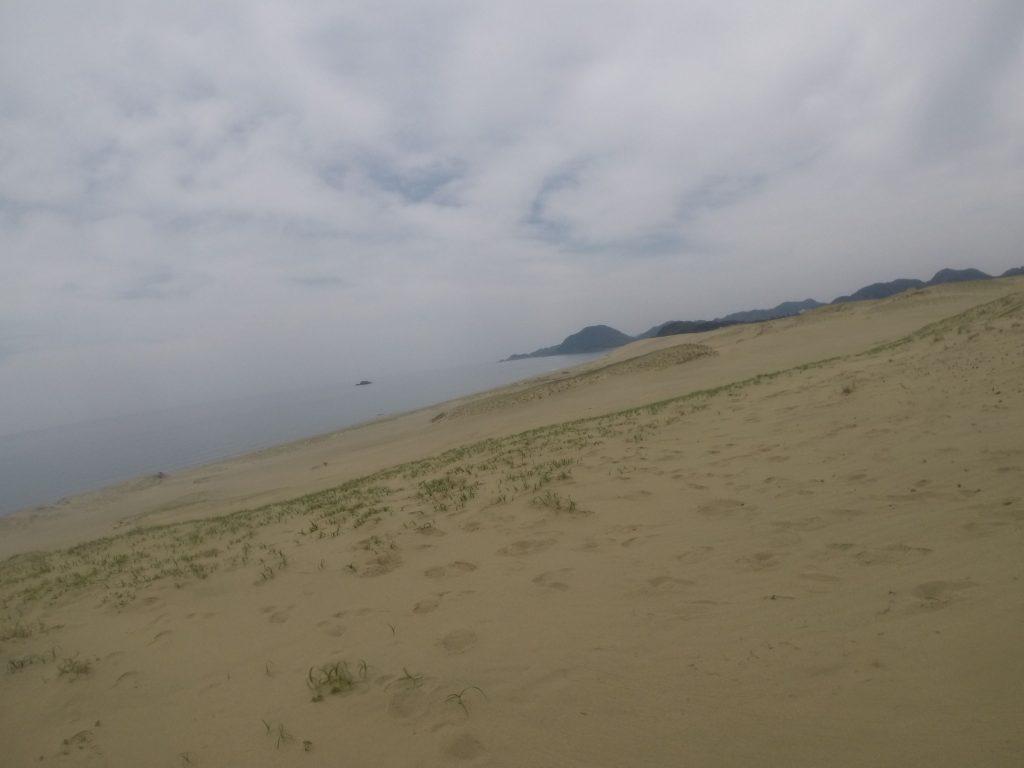 昨日、そして今日で雲が増えてきた鳥取砂丘