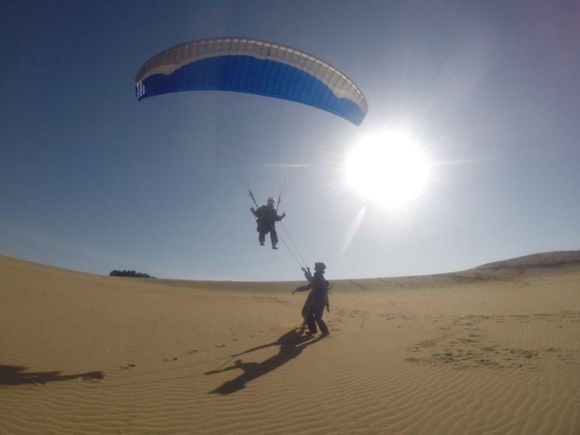 圧力のある北東風を利用して、大空を飛び回った土曜日
