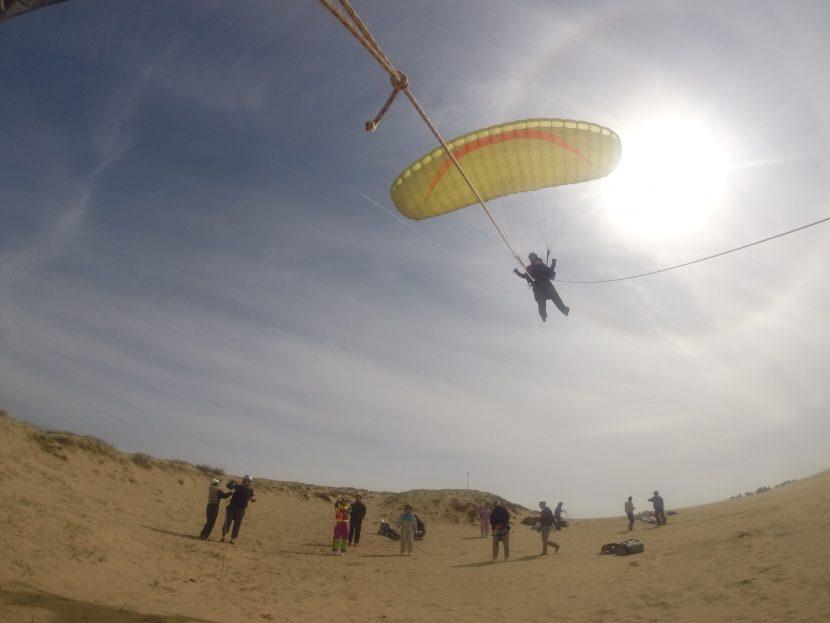 強風をいっぱい利用できた週末土曜の鳥取砂丘