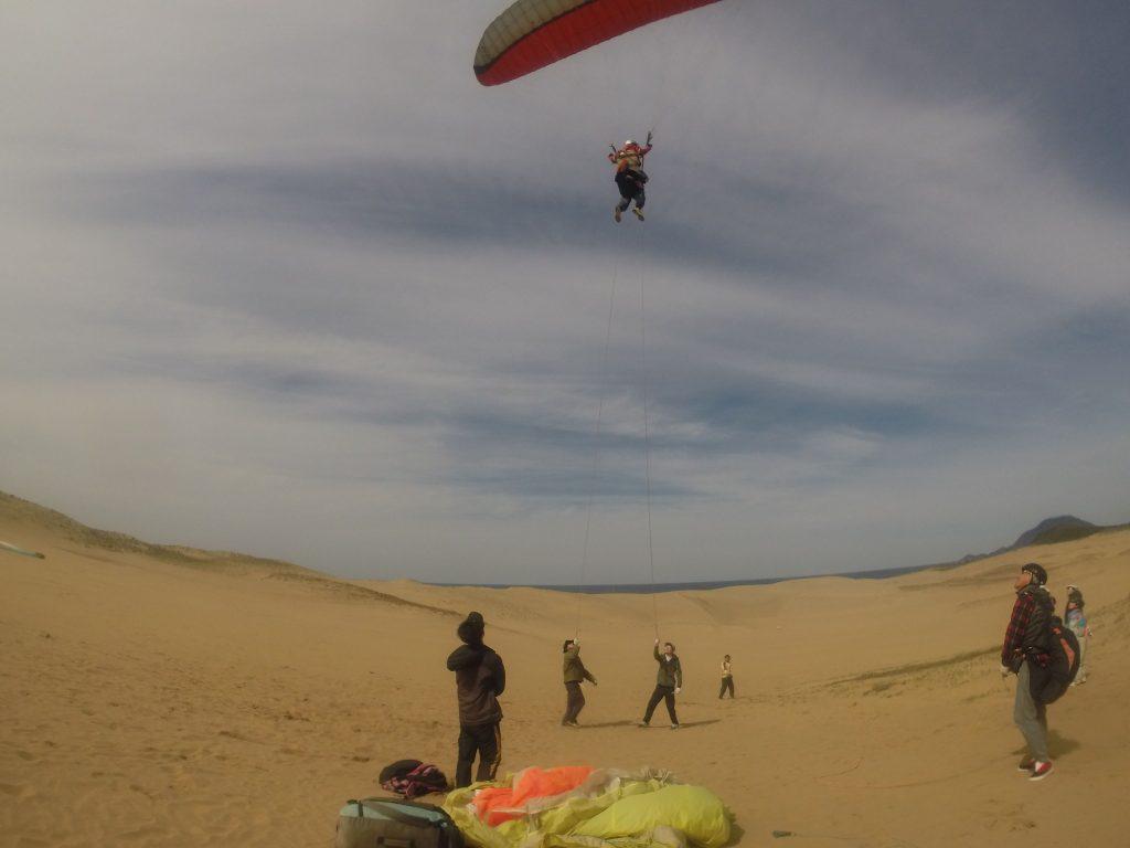 じっくり砂丘の大空を楽しんでいただきました♪