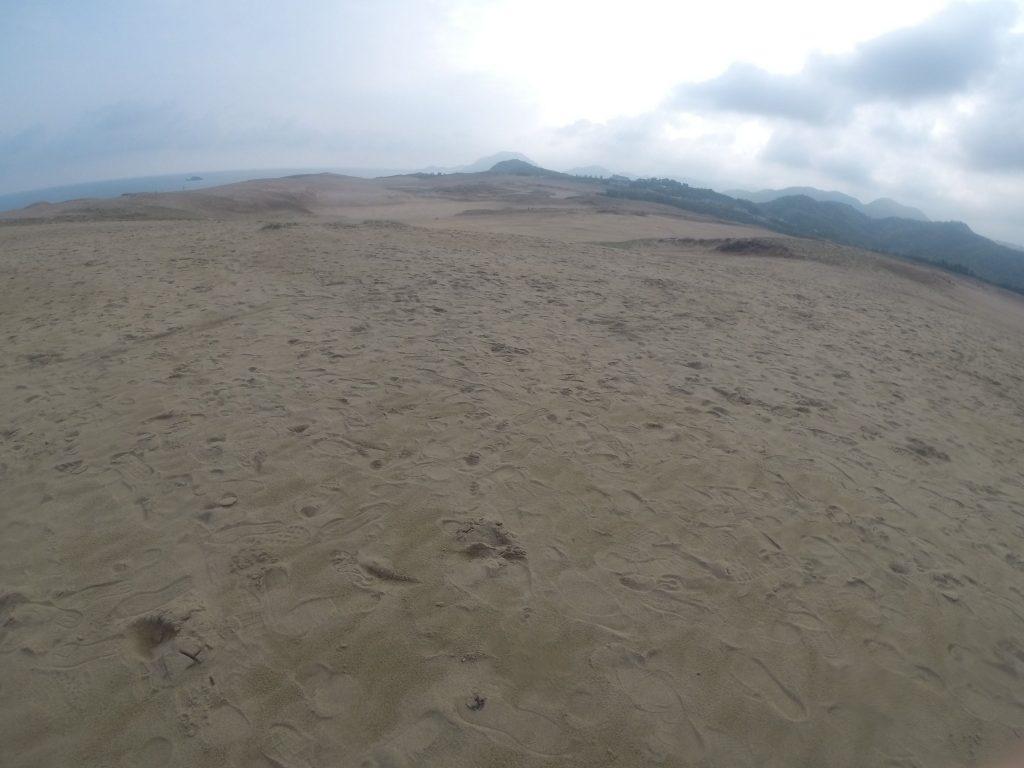 すでに足跡だらけの鳥取砂丘