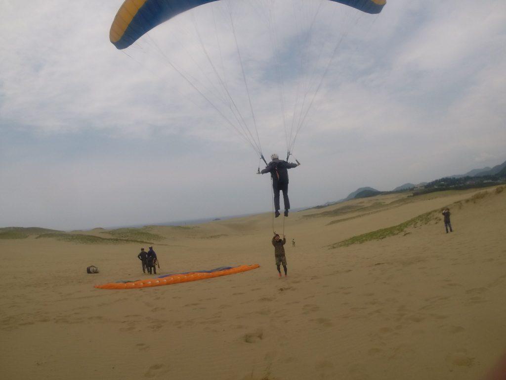 大きな翼で、風をキャッチ