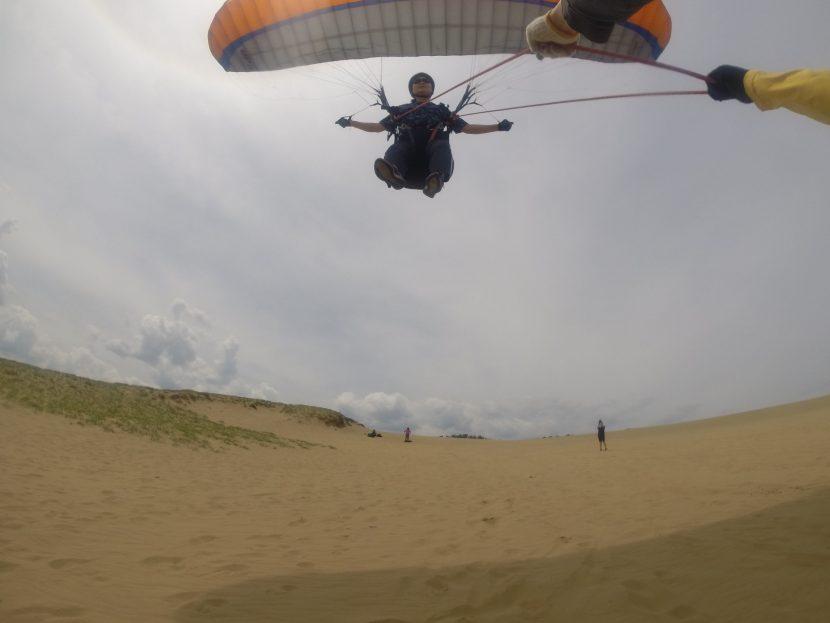飛び頃の風を利用して、大満足パラグライダー