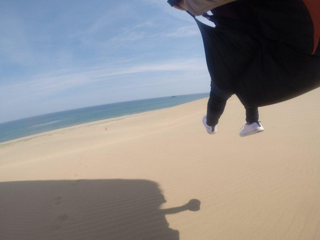 空と砂と海だけの大空間へ