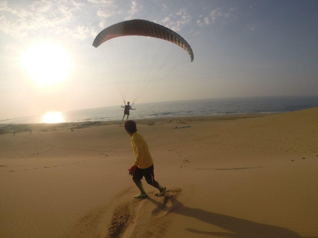 そして最後は、海に向かってナイスフライト!