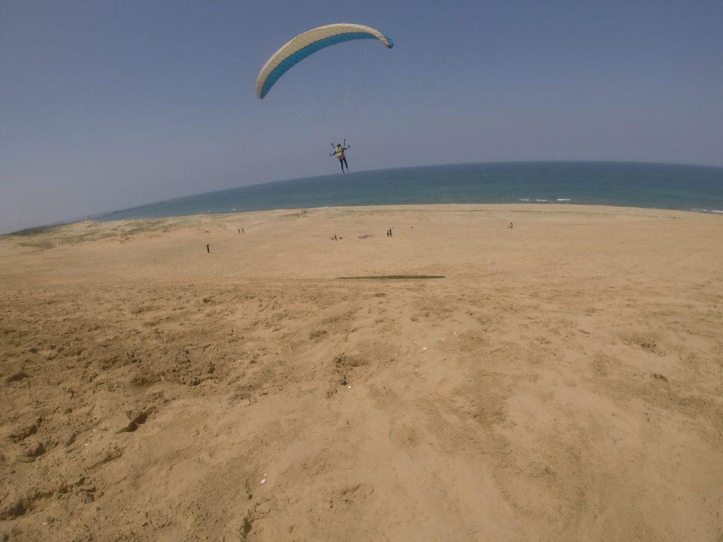 砂丘の空は優しく迎えてくれました