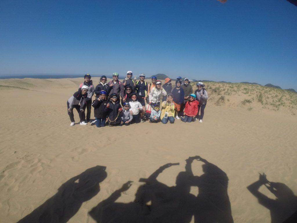 丘の上の砂が飛び始めた午後の部