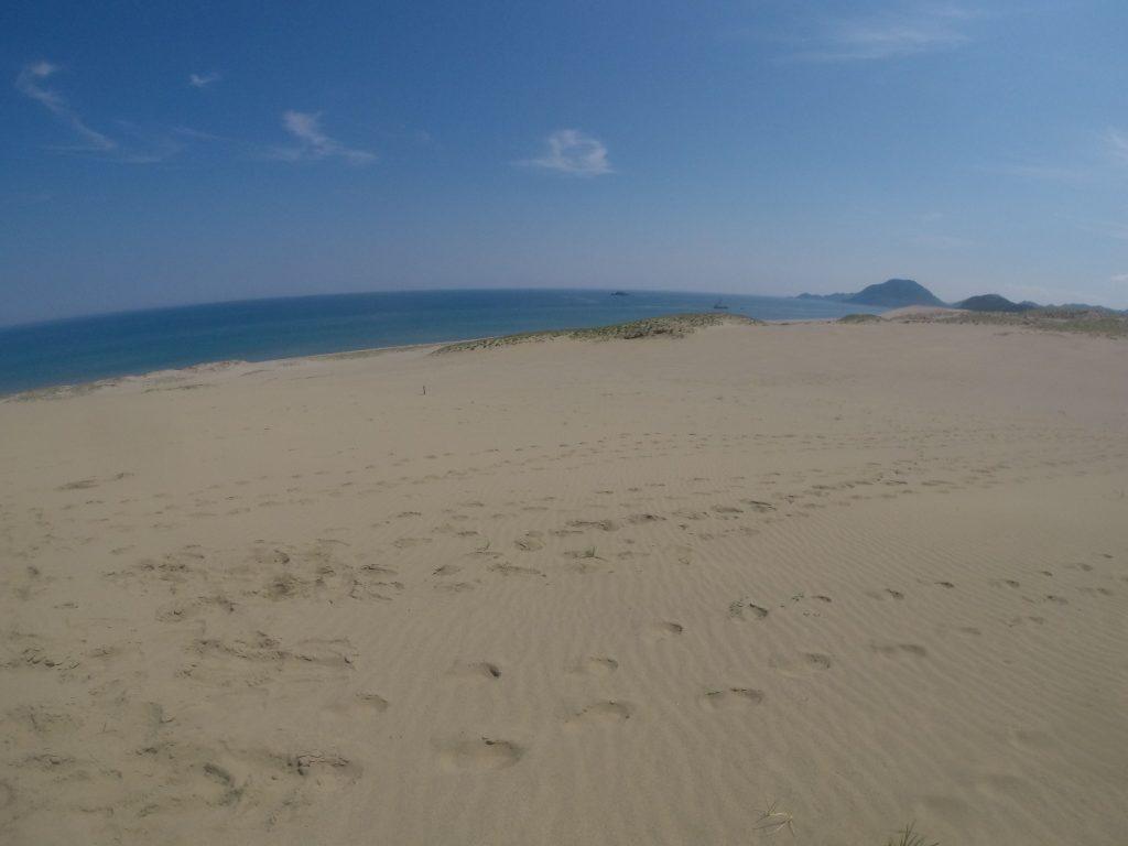 マリンブルー、そしてスカイブルーが美しい日本海