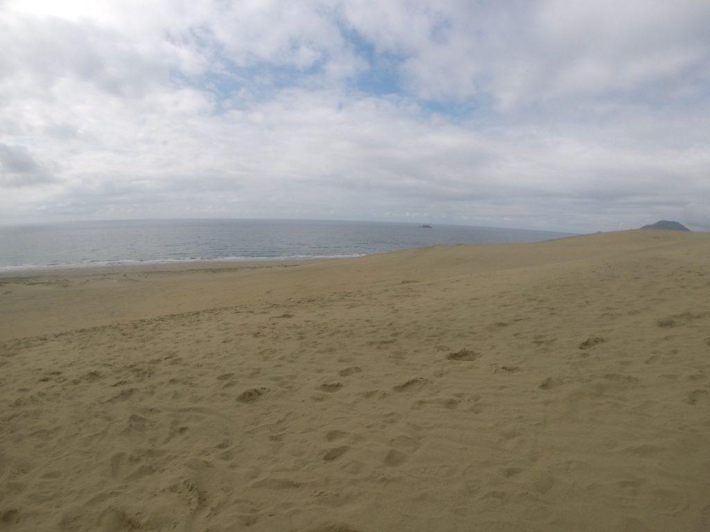 雨上がりで歩きやすかった鳥取砂丘