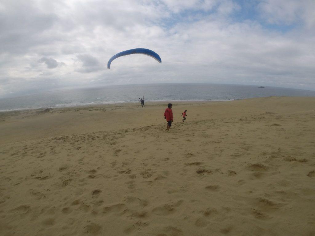 しっかり風に乗れて飛距離が出ました!