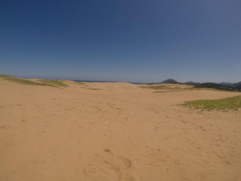 青空綺麗な鳥取砂丘