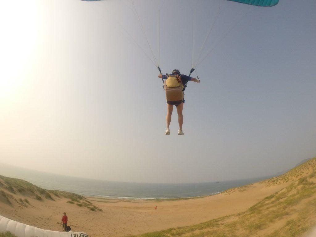 風が弱まり方向で難し離陸でしたが、大成功!