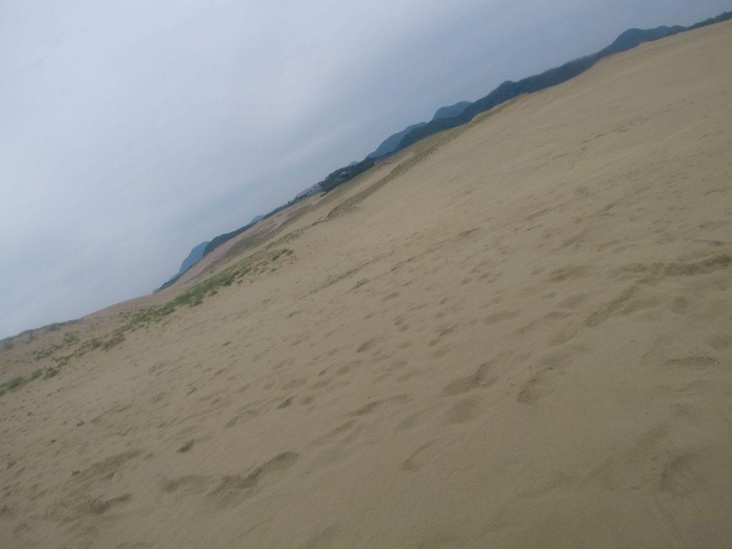 弱い陽射しだった日曜の鳥取砂丘