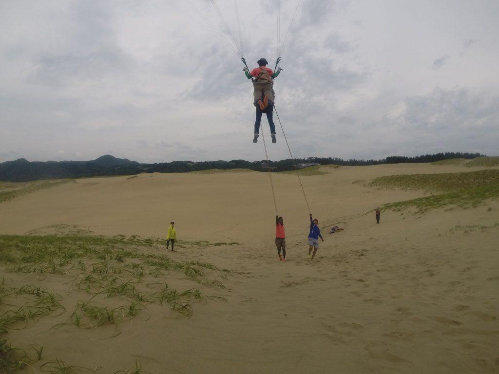 高い視点から鳥取砂丘を空中散歩できました