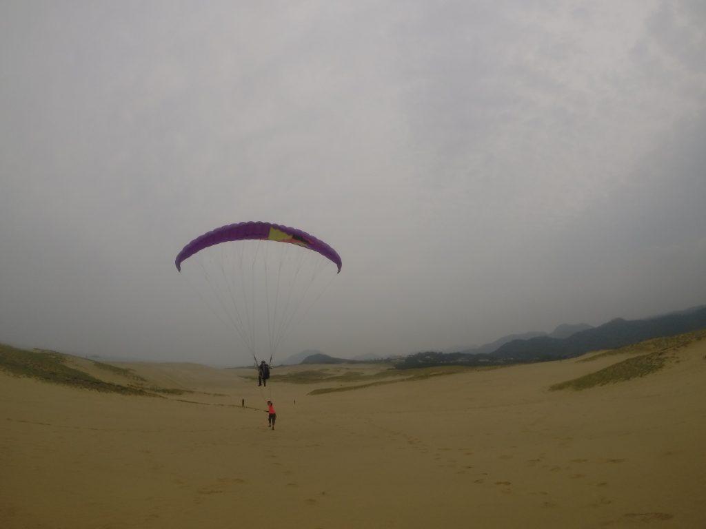 風に揺られて鳥取砂丘を一望です♪