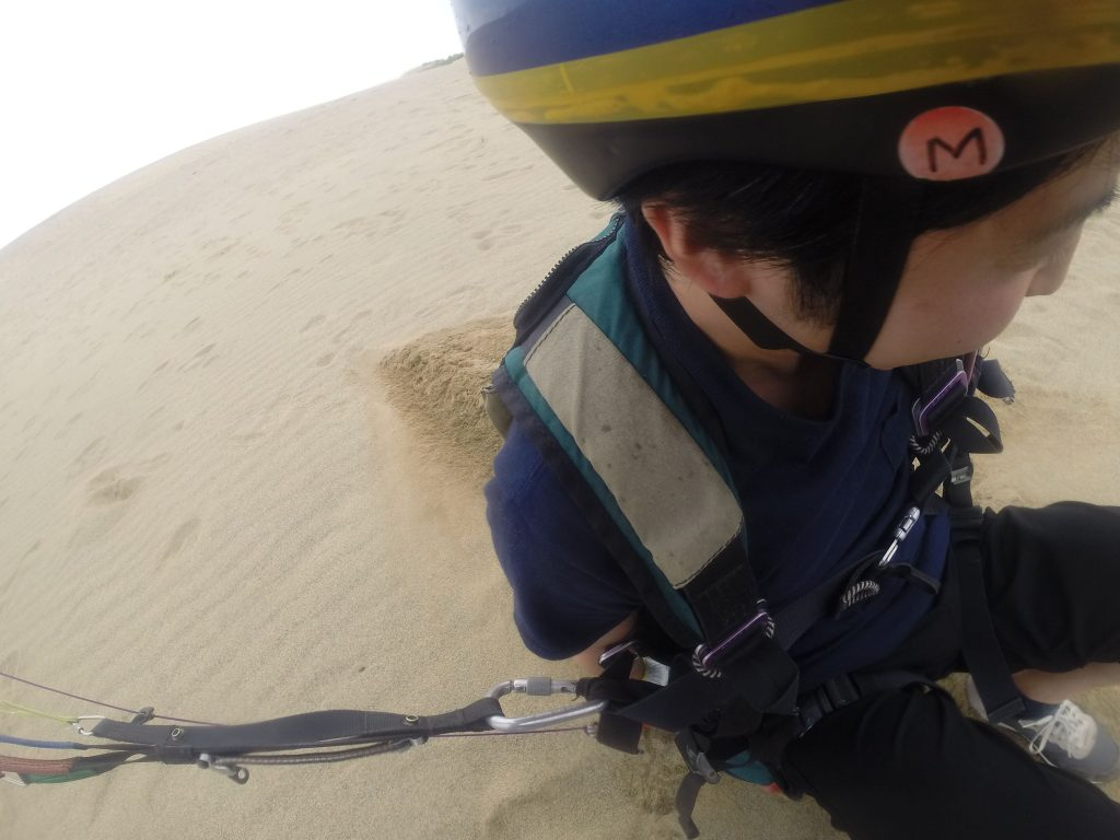 ヘルメットのMシールに目が行きますが・・・スタートです!(笑)