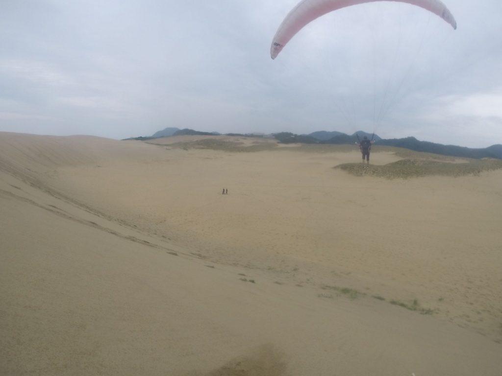 午後の部では南風に戻り、高い丘の上からのフライト。