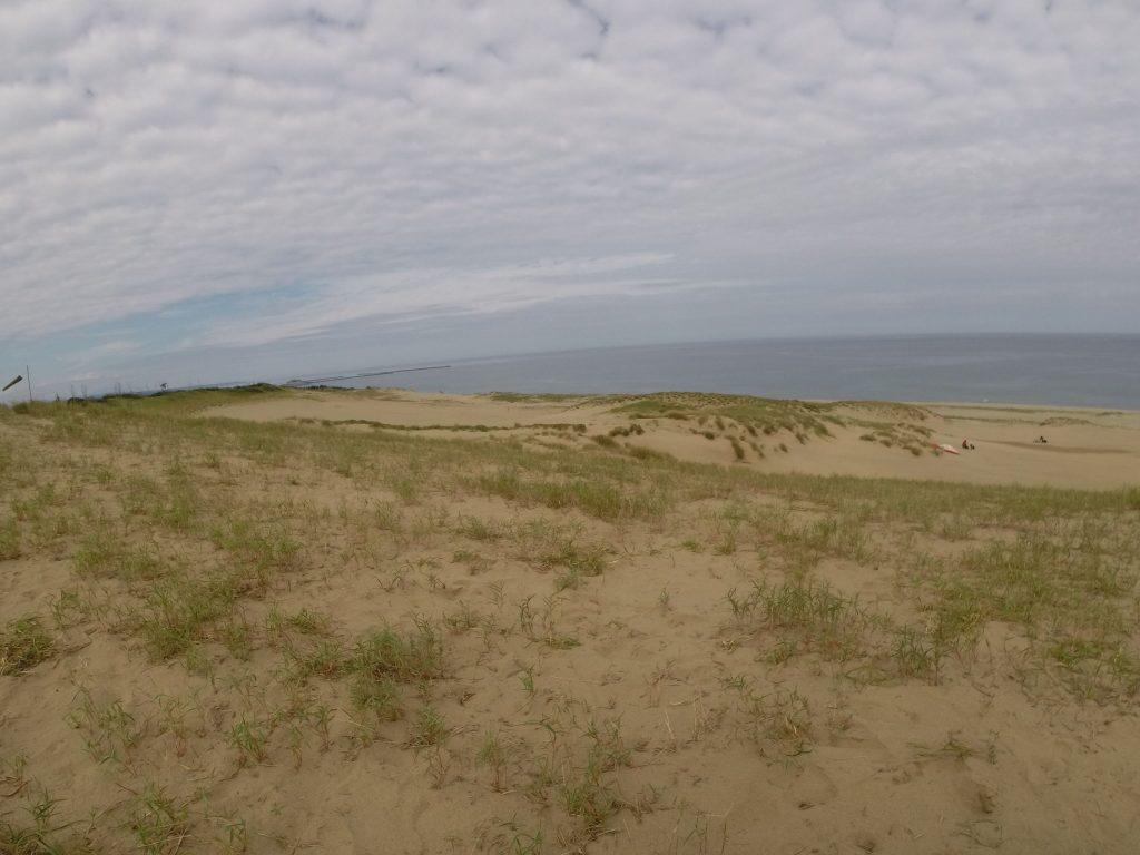 今日の鳥取砂丘です。天気は、変わりまくりでした。