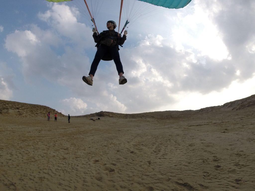 上空からの砂丘はこんな感じなんやな~。